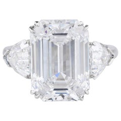 FLAWLESS E Color GIA Certified 3 Carat Emerald Cut Diamond Ring