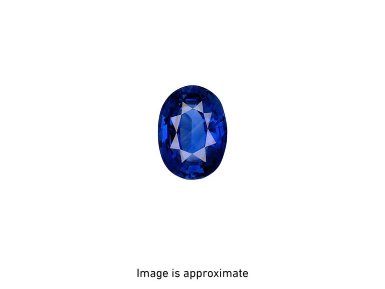 GIA Certified 3.55 Carat Madagascar Blue Sapphire Diamonds Platinum Ring For Sale 3
