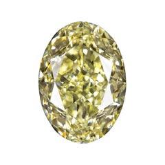 GIA Certified 3.57 Carat Oval Fancy Light Yellow Diamond
