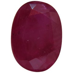 GIA Certified 3.59 Carat Natural Oval Ruby