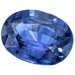 GIA Certified 3.59 Carat Oval Blue Sapphire Loose Stone