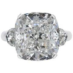 GIA Certified 2.60 Carat Cushion Diamond Platinum Ring