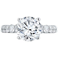 GIA Certified 3.61 Carat E-SI Engagement Ring