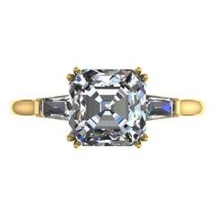 GIA Certified 3.65 Carat Asscher Cut Diamond E Color VVS1 Clarity Excellent Cut