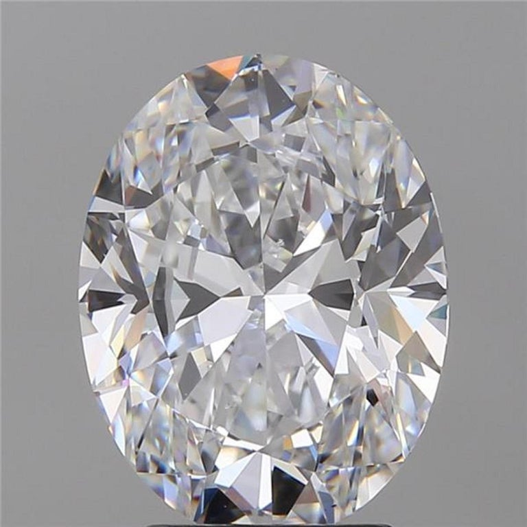 Oval Cut Gia Certified 3.65 Carat Oval Solitaire Ring D Color VS2 For Sale