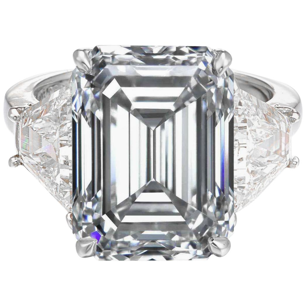 GIA Certified 3 Ct. Carat Emerald Cut Diamond Engagement Solitaire Ring