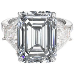 GIA Certified 2.75 Emerald Cut Diamond D Color VVS1 Clarity