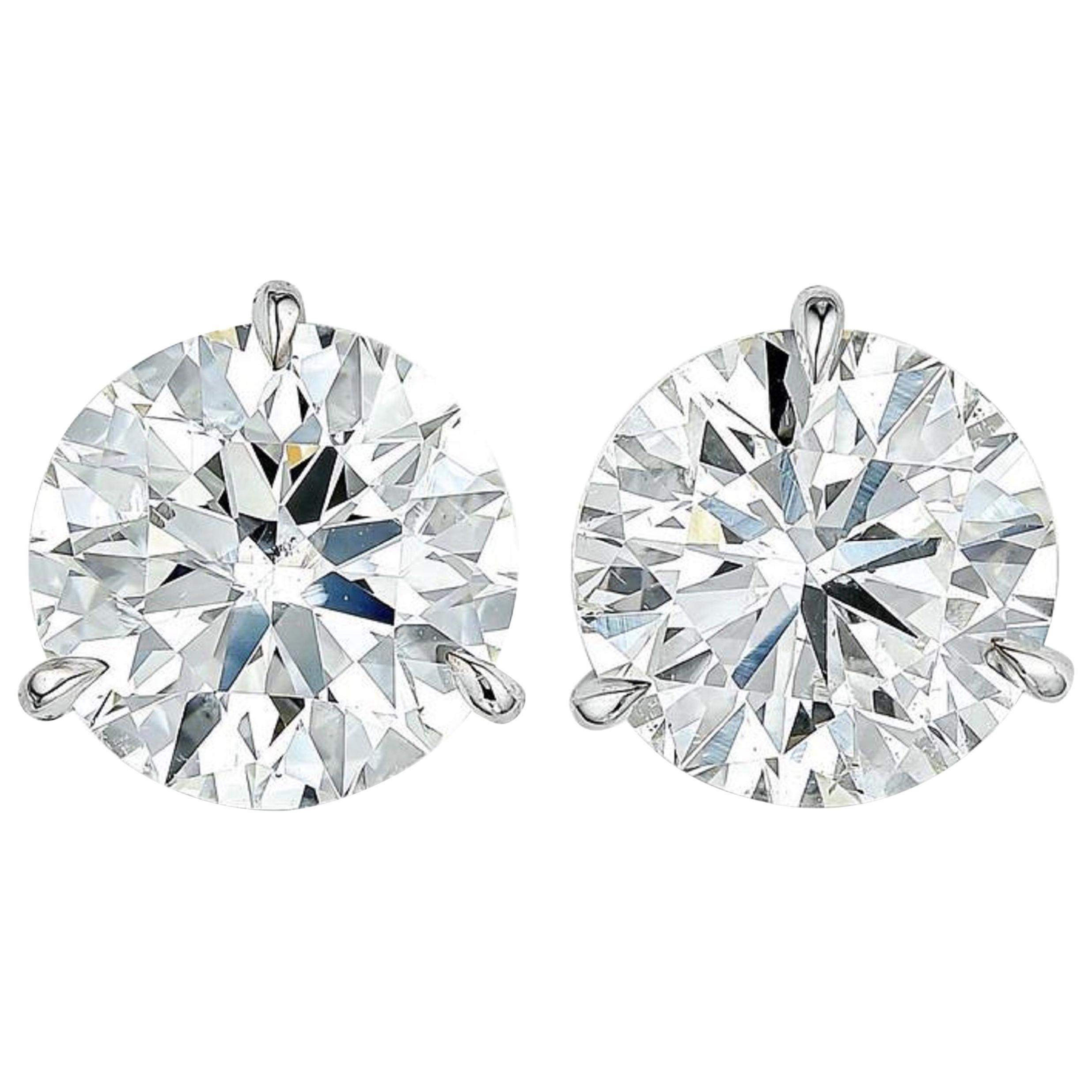 INTERNALLY FLAWLESS/VVS D Color GIA Certified 3 Carat Brilliant Diamond Studs