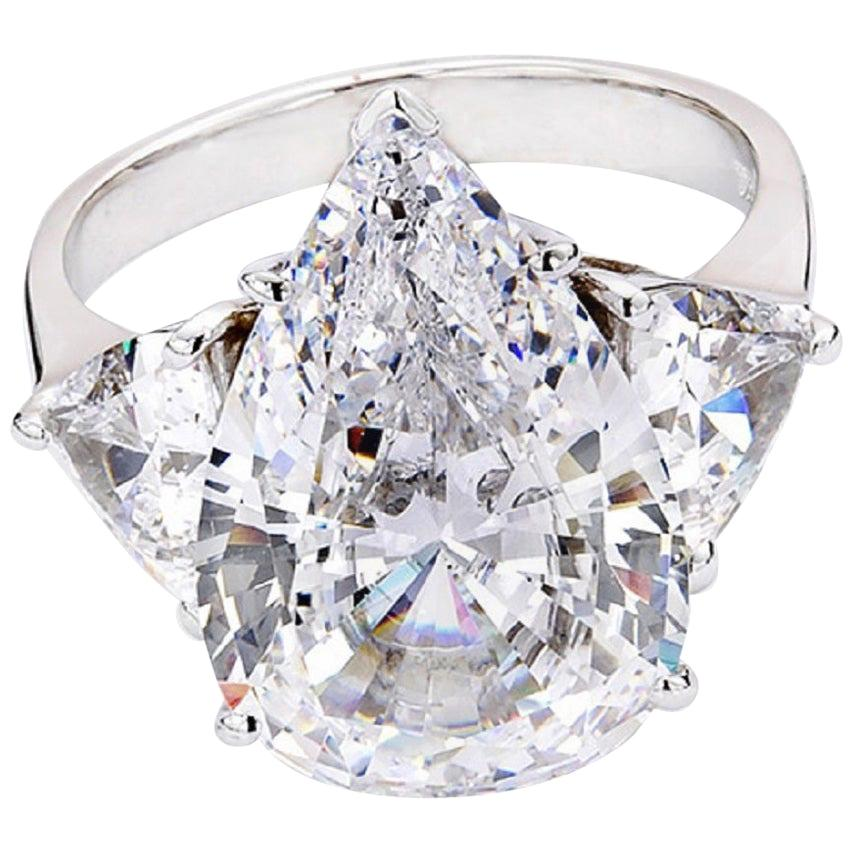 GIA Certified 4.65 Carat Pear Cut Diamond  Eye Clean VVS2 Clarity G Color