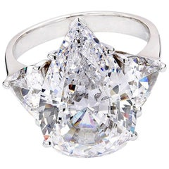 GIA Certified 4 Carat Pear Cut Diamond  Eye Clean