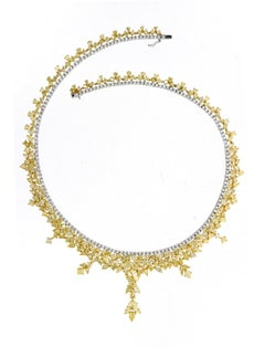 GIA Certified 38.33 Carat Natural Yellow Diamond Necklace