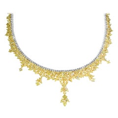 GIA Certified 38.33 Carat Natural Yellow Diamond Necklace