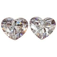GIA Certified 4 Carat Diamond Studs