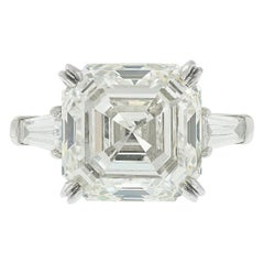 GIA Certified 4 Carat 'main stone' Emerald Cut Diamond Ring