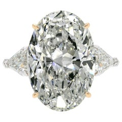 GIA Certified 4 Carat Oval Diamond G Color VS2 Clarity Excellent Cut