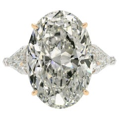 I FLAWLESS GIA Certified 3 Carat Oval Diamond Platinum Ring
