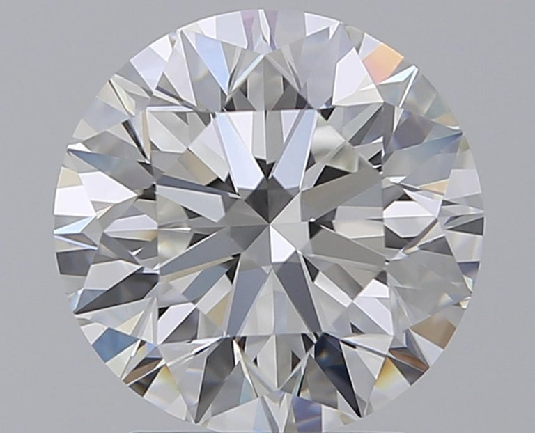 Round Cut GIA Certified 7 Carat Round Diamond Platinum Ring Triple Excellent Cut For Sale