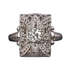 GIA Certified Old European Cut Diamond Cocktail Ring