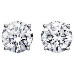 White Diamond Clip-on Earrings