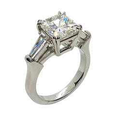 GIA Certified 4.02 Carat Radiant Cut Diamond in Platinum Hand Made Ring