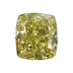 GIA Certified 4.03 Carat Fancy Intense Yellow Diamond VS1 Clarity