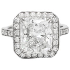 GIA Certified 4.18 Carat G-VS2 Radiant Diamond Ring