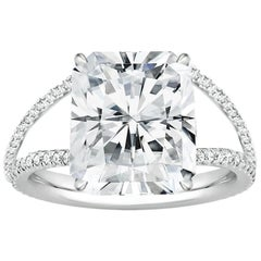 GIA Certified 4.18 Carat Radiant Cut Engagement Ring, Flawless