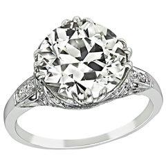 GIA Certified 4.20 Carat Diamond Engagement Ring