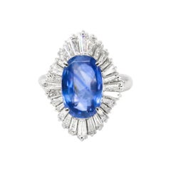 GIA Certified 4.30 Carat Sapphire Ring