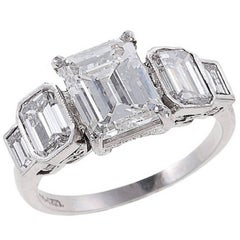 GIA Certified 4.30 Carat Diamond Platinum Engagement Ring