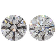 GIA Certified 4.40 Carat Certified VVS1 Clarity D/G Color Diamond Studs
