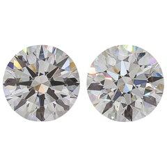 GIA Certified 4.02 Carat Certified VS2 Clarity D Color Diamond Studs
