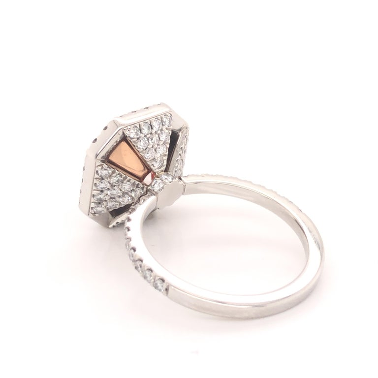 Radiant Cut ROC DIAMOND GIA Certified 4.48 Carat Pink Diamond Ring For Sale