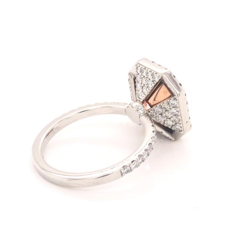 Women's or Men's ROC DIAMOND GIA Certified 4.48 Carat Pink Diamond Ring For Sale