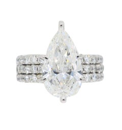 GIA Certified 4.55 Carat Diamond Engagement Ring