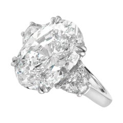 GIA Certified 4.65 Carat Oval Brilliant Cut Diamond Ring