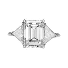 GIA Certified 4.75 Carat J VS1 Emerald-Cut Diamond Ring in Platinum by Furst