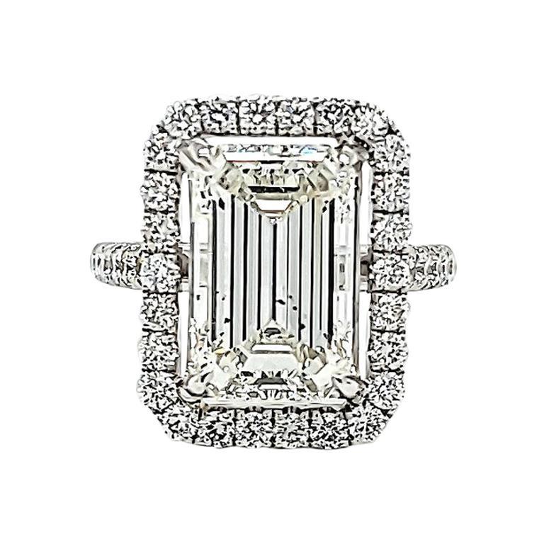 GIA Certified 4.82 Carat Emerald Cut Diamond Ring