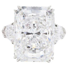 GIA Certified 5 Carat Long Radiant Cut Diamond Solitaire Ring
