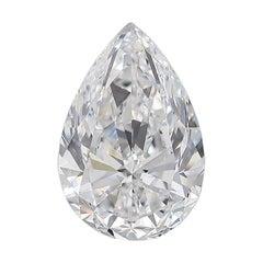 GIA Certified 5 Carat Pear Cut Diamond D Color VS2 Clarity