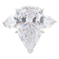 GIA Certified 5 Carat Pear Cut Diamond Ring