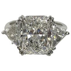 GIA Certified 5.80 Carat Radiant Cut Diamond Ring