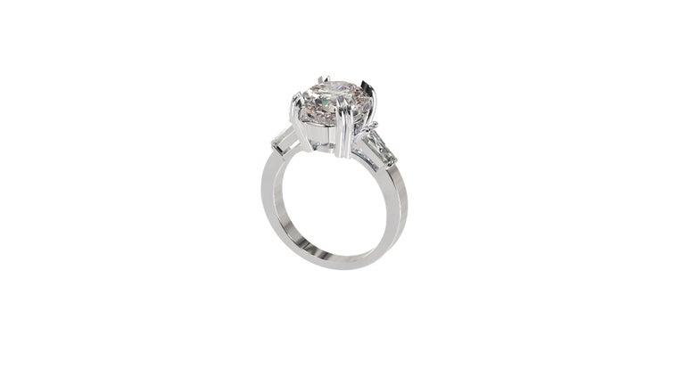 IGI Certified 3 Carat Oval Cut Diamond Ring For Sale 9