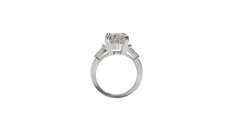 IGI Certified 3 Carat Oval Cut Diamond Ring For Sale 1