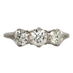 GIA zertifizierter .50 Karat Diamant Platin Verlobungsring