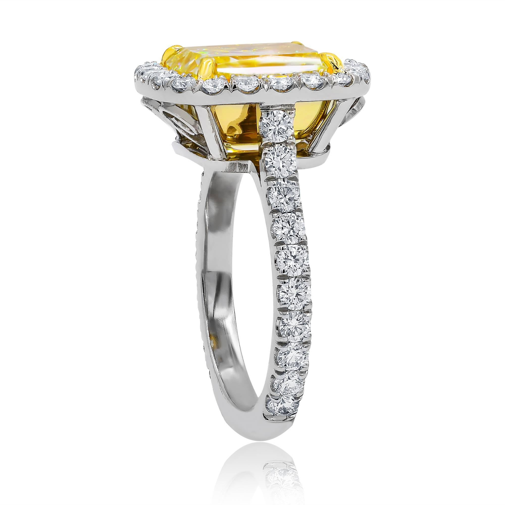 engagement and diamond colorless stone picture rings ring of canary yellow