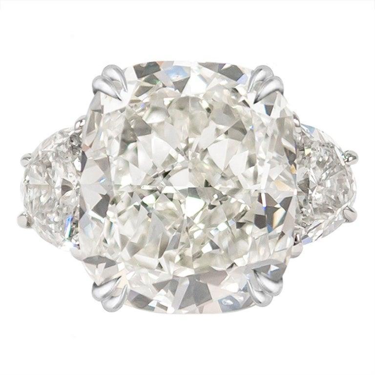 Modern GIA Certified 4 Carat Cushion Cut Diamond I Color Triple Ex For Sale