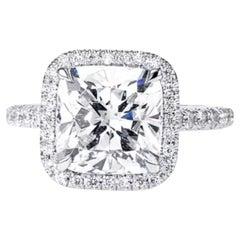 GIA Certified 5.01 Carat Cushion Diamond