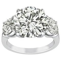 GIA Certified 5.01 Carat Diamond Platinum Engagement Ring