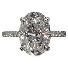 GIA Certified 5.01 Carat I Color VS2 Clarity 3 Excellent